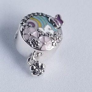 Pandora Flower Color Story Charm Silver Enamel